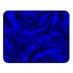 Gorgeous Roses,deep Blue Double Sided Flano Blanket (Large)
