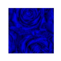Gorgeous Roses,deep Blue Small Satin Scarf (Square)