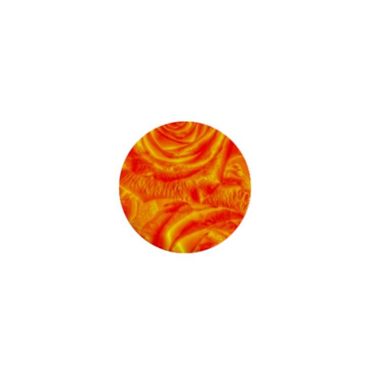 Gorgeous Roses, Orange 1  Mini Buttons