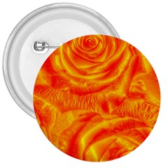 Gorgeous Roses, Orange 3  Buttons