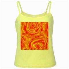 Gorgeous Roses, Orange Yellow Spaghetti Tanks