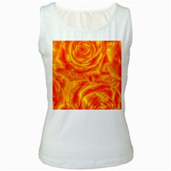 Gorgeous Roses, Orange Women s Tank Tops