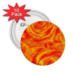 Gorgeous Roses, Orange 2.25  Buttons (10 pack)