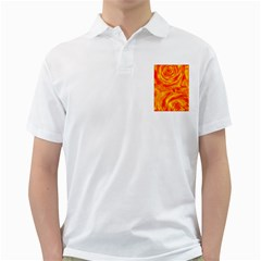 Gorgeous Roses, Orange Golf Shirts