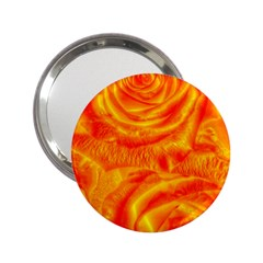 Gorgeous Roses, Orange 2.25  Handbag Mirrors