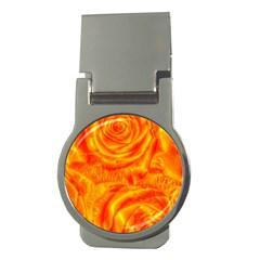 Gorgeous Roses, Orange Money Clips (round)