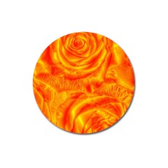 Gorgeous Roses, Orange Magnet 3  (round)
