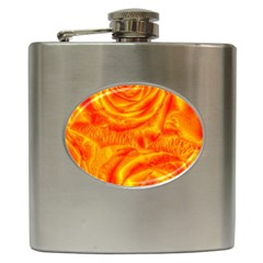 Gorgeous Roses, Orange Hip Flask (6 oz)
