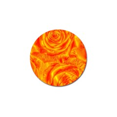 Gorgeous Roses, Orange Golf Ball Marker