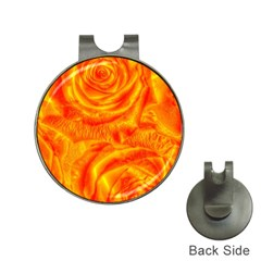 Gorgeous Roses, Orange Hat Clips With Golf Markers