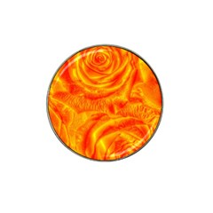 Gorgeous Roses, Orange Hat Clip Ball Marker (4 Pack)