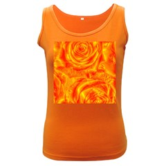 Gorgeous Roses, Orange Women s Dark Tank Tops