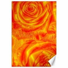 Gorgeous Roses, Orange Canvas 12  X 18