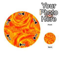 Gorgeous Roses, Orange Playing Cards 54 (round)
