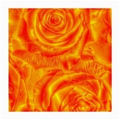 Gorgeous Roses, Orange Medium Glasses Cloth