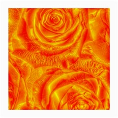 Gorgeous Roses, Orange Medium Glasses Cloth (2 Side)
