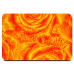 Gorgeous Roses, Orange Large Doormat