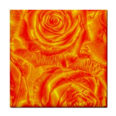 Gorgeous Roses, Orange Face Towel