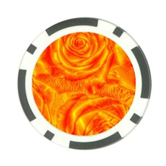 Gorgeous Roses, Orange Poker Chip Card Guards (10 Pack)