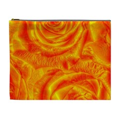 Gorgeous Roses, Orange Cosmetic Bag (xl)