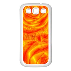 Gorgeous Roses, Orange Samsung Galaxy S3 Back Case (white)