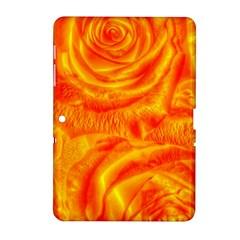Gorgeous Roses, Orange Samsung Galaxy Tab 2 (10 1 ) P5100 Hardshell Case