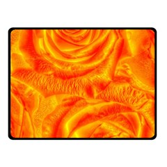 Gorgeous Roses, Orange Double Sided Fleece Blanket (Small)