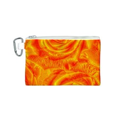 Gorgeous Roses, Orange Canvas Cosmetic Bag (s)