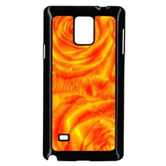 Gorgeous Roses, Orange Samsung Galaxy Note 4 Case (Black)
