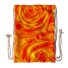 Gorgeous Roses, Orange Drawstring Bag (Large)