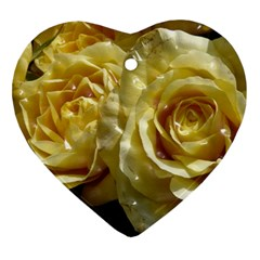 Yellow Roses Ornament (Heart)