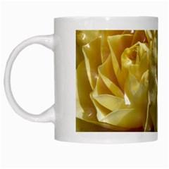 Yellow Roses White Mugs