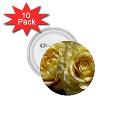 Yellow Roses 1 75  Buttons (10 Pack)