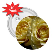 Yellow Roses 2 25  Buttons (10 Pack)