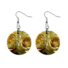 Yellow Roses Mini Button Earrings