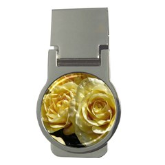 Yellow Roses Money Clips (round)