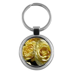 Yellow Roses Key Chains (round)