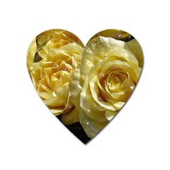 Yellow Roses Heart Magnet
