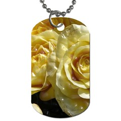 Yellow Roses Dog Tag (one Side)