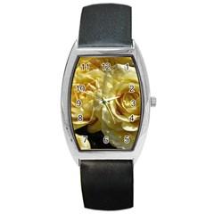 Yellow Roses Barrel Metal Watches