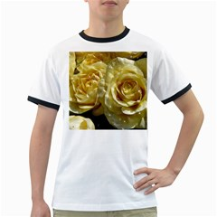Yellow Roses Ringer T Shirts