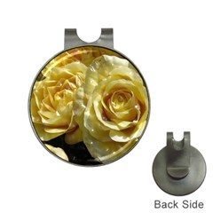 Yellow Roses Hat Clips With Golf Markers