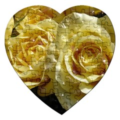 Yellow Roses Jigsaw Puzzle (heart)