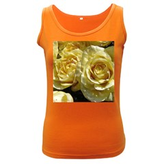 Yellow Roses Women s Dark Tank Tops