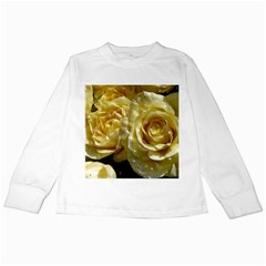 Yellow Roses Kids Long Sleeve T Shirts