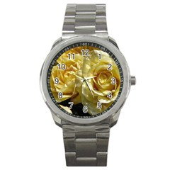 Yellow Roses Sport Metal Watches