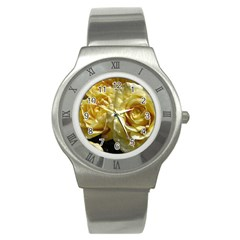 Yellow Roses Stainless Steel Watches