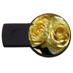 Yellow Roses Usb Flash Drive Round (4 Gb)