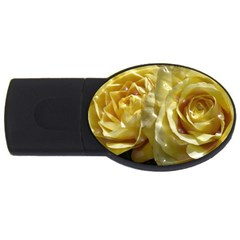 Yellow Roses Usb Flash Drive Oval (4 Gb)