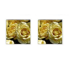 Yellow Roses Cufflinks (square)